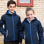 Core junior TX performance hooded softshell jacket