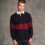 Panelled rugby shirt - tag-free