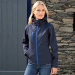 Result Core TX performance ladies Hooded Softshell Jacket