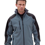 Ice fell hooded softshell jacket