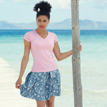 Lady-fit valueweight v-neck t