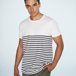 Short-sleeved Breton T - tag-free