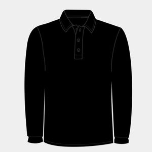Piqué polo long-sleeved (classic fit) Thumbnail