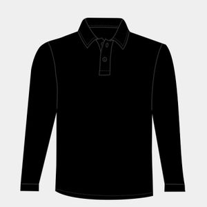 Kids long sleeve plain rugby shirt Thumbnail