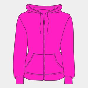 Premium 70/30 lady-fit hooded sweat jacket Thumbnail